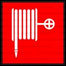 F001 - Požiarna hadica - Štvorcová požiarna nálepka bez textu