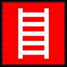 F002 - Rebrík - Štvorcová požiarna nálepka bez textu