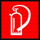 F003 - Hasiaci prístroj - Štvorcová požiarna nálepka bez textu