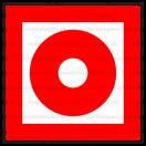 F006 - Tlačidlový hlásič požiaru - Štvorcová požiarna nálepka bez textu