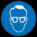 M001 - Príkaz na ochranu zraku - Okrúhla nálepka bez textu