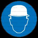 M002 - Príkaz na ochranu hlavy - Okrúhla nálepka bez textu