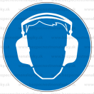 M003 - Príkaz na ochranu sluchu - Okrúhla nálepka bez textu