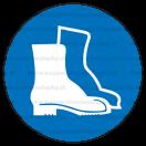 M005 - Príkaz na ochranu nôh - Okrúhla nálepka bez textu