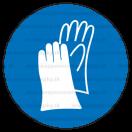 M006 - Príkaz na ochranu rúk - Okrúhla nálepka bez textu