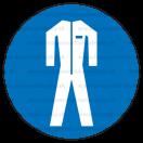 M007 - Príkaz na nosenie ochranného odevu - Okrúhla nálepka bez textu