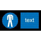 M007 - Príkaz na nosenie ochranného odevu - Vodorovná nálepka s doplnkovým textom
