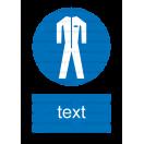 M007 - Príkaz na nosenie ochranného odevu - Zvislá nálepka s doplnkovým textom