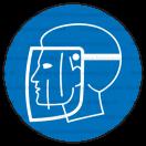 M008 - Príkaz na ochranu tváre - Okrúhla nálepka bez textu
