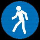 M010 - Cesta vyhradená pre chodcov - Okrúhla nálepka bez textu