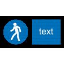 M010 - Cesta vyhradená pre chodcov - Vodorovná nálepka s doplnkovým textom