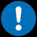 M011 - Značka príkazu (všeobecne) - Okrúhla nálepka bez textu