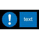 M011 - Značka príkazu (všeobecne) - Vodorovná nálepka s doplnkovým textom