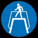 M012 - Príkaz na použitie nadchodu - Okrúhla nálepka bez textu