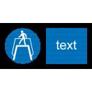 M012 - Príkaz na použitie nadchodu - Vodorovná nálepka s doplnkovým textom