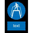 M012 - Príkaz na použitie nadchodu - Zvislá nálepka s doplnkovým textom