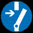 M014 - Príkaz na odpojenie pred prácou - Okrúhla nálepka bez textu