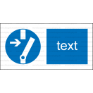 M014 - Príkaz na odpojenie pred prácou - Vodorovná nálepka s doplnkovým textom
