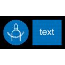 M023 - Príkaz na zaistenie plynových nádrží - Vodorovná nálepka s doplnkovým textom
