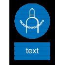 M023 - Príkaz na zaistenie plynových nádrží - Zvislá nálepka s doplnkovým textom