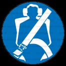 M024 - Príkaz na použitie ochranných pásov - Okrúhla nálepka bez textu