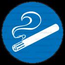 M027 - Miesto vyhradené na fajčenie - Okrúhla nálepka bez textu