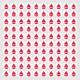 K010 - Dátumová známka / slzička (1ks = hárok 100 slzičiek)