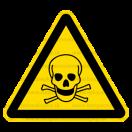 W003 - Nebezpečenstvo otravy, zadusenia - Trojuholníková nálepka bez textu