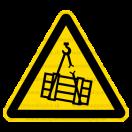 W006 - Nebezpečenstvo pádu alebo pohybu závesného predmetu - Trojuholníková nálepka bez textu