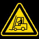 W007 - Nebezpečenstvo pohybu priemyselných vozidiel - Trojuholníková nálepka bez textu