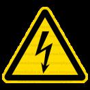 W008 - Nebezpečenstvo úrazu ekektrinou - Trojuholníková nálepka bez textu