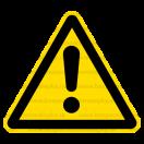 W009 - Iné nebezpečenstvo - Trojuholníková nálepka bez textu