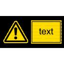 W009 - Iné nebezpečenstvo - Vodorovná nálepka s doplnkovým textom
