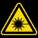 W010 - Nebezpečenstvo laserového lúča - Trojuholníková nálepka bez textu