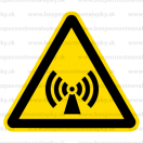 W012 - Nebezpečenstvo neionizujúceho žiarenia - Trojuholníková nálepka bez textu