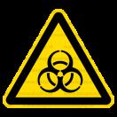 W016 - Biologické nebezpečenstvo - Trojuholníková nálepka bez textu