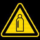 W019 - Nebezpečenstvo od tlakových nádob s plynom - Trojuholníková nálepka bez textu