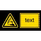 W020 - Nebezpečenstvo od akumulátorov - Vodorovná nálepka s doplnkovým textom