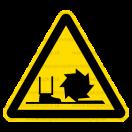 W022 - Nebezpečenstvo od frézy - Trojuholníková nálepka bez textu