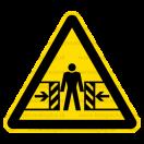 W023 - Nebezpečenstvo pomliaždenia - Trojuholníková nálepka bez textu