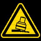 W024 - Nebezpečenstvo zosunutia alebo pádu valca - Trojuholníková nálepka bez textu
