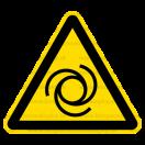 W025 - Nebezpečenstvo pri automatickom štarte - Trojuholníková nálepka bez textu