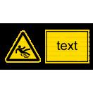 W028 - Nebezpečenstvo pošmyknutia - Vodorovná nálepka s doplnkovým textom