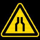 W030 - Pozor, zúžený priestor - Trojuholníková nálepka bez textu