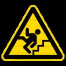 W031 - Pozor schod(y) - Trojuholníková nálepka bez textu