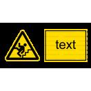 W031 - Pozor schod(y) - Vodorovná nálepka s doplnkovým textom