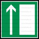 E005 - Úniková cesta, únikový východ (šipka hore) - Štvorcová záchranná nálepka bez textu
