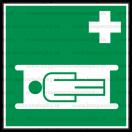 E007 - Nosidlá - Štvorcová záchranná nálepka bez textu