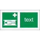 E007 - Nosidlá - Vodorovná záchranná nálepka s doplnkovým textom