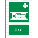 E007 - Nosidlá - Zvislá záchranná nálepka s doplnkovým textom